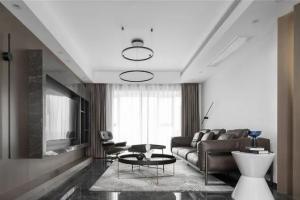 女业主的150㎡现代主义三居室,营造沉稳优雅的迷人韵味!