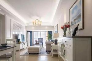 146平的四室两厅现代美式,客户不喜欢深色调美式